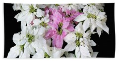 Poinsettia Display Bath Towel