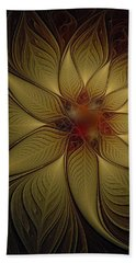 Poinsettia In Gold Hand Towel