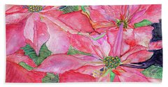 Poinsettia Hand Towel