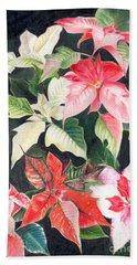 Poinsettias Hand Towel