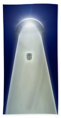 Bath Towel featuring the digital art Point Arena Lighthouse by Holly Ethan