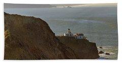 Point Bonita Lighthouse In San Francisco Bath Towel
