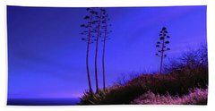Hand Towel featuring the photograph Point Fermin In Infrared by Randall Nyhof