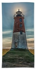 Point Judith Light Narragansett Rhode Island Hand Towel