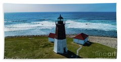 Point Judith Lighthouse Hand Towel