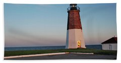 Bath Towel featuring the photograph Point Judith Lighthouse Rhode Island by Nancy De Flon