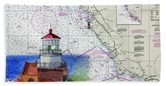 Point Sur Light Station Bath Towel by Mike Robles