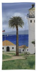 Point Vicente Lighthouse Bath Towel by Jamie Frier
