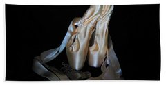 Pointe Shoes And Dog Tags1 Bath Towel by Laurianna Taylor