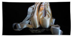 Pointe Shoes And Dog Tags2 Hand Towel