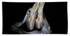 Pointe Shoes1 Bath Towel by Laurianna Taylor