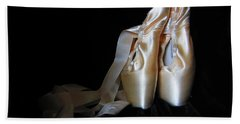 Pointe Shoes2 Bath Towel by Laurianna Taylor