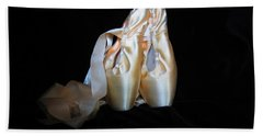 Pointe Shoes3 Bath Towel by Laurianna Taylor