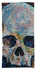 Pointillism Skull Hand Towel