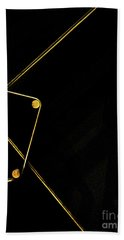 Points Lines And Planes 1 Bath Towel by James Aiken