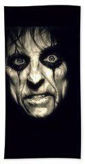 Poison Alice Cooper Hand Towel by Fred Larucci