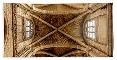 Poissy, France - Ceiling, Notre-dame De Poissy Bath Towel