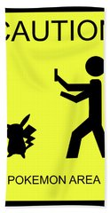 Hand Towel featuring the digital art Pokemon Area by Shane Bechler