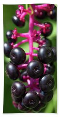 Pokeweed Cluster Hand Towel