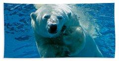 Hand Towel featuring the photograph Polar Bear Contemplating Dinner by John Haldane