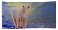 Polar Bear Hand Towel by Joanne Smoley
