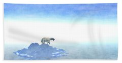 Bath Towel featuring the digital art Polar Bear On Iceberg by Phil Perkins