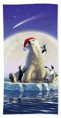 Polar Season Greetings Hand Towel