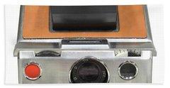 Polaroid Sx70 On White Bath Towel