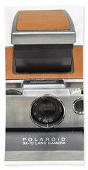 Polaroid Sx70 On White Hand Towel