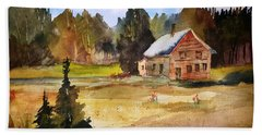 Polebridge Mt Cabin Hand Towel