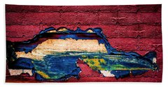 Police Car Abstract Hand Towel