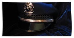 Police Hat Bath Towel by Laurianna Taylor