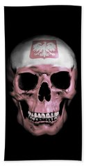 Hand Towel featuring the digital art Polish Skull by Nicklas Gustafsson