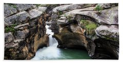 Hand Towel featuring the photograph Polished Rock by David Chandler