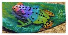 Polka-dotted Rainbow Frog Hand Towel