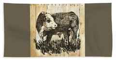 Polled Hereford Bull 11 Bath Towel