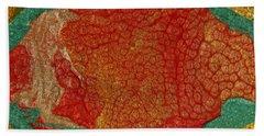 Pomegranate Blossom Abstract Bath Towel