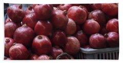 Pomegranates At Jerusalem's Old City Market Hand Towel