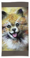 Pomeranian Hand Towel by Patricia Lintner