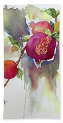 Pomegranates Bath Towel