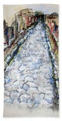 Pompeii Road Bath Towel