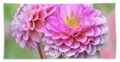 Hand Towel featuring the photograph Pompon Dahlias by John Poon