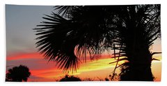Ponce Inlet Florida Sunset Bath Towel
