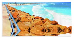 Ponce Inlet Jetty  Hand Towel