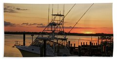 Bath Towel featuring the photograph Ponce Inlet Sunset by Paul Mashburn