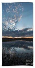 Pond And Sky Reflection3 Bath Towel