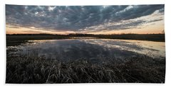 Pond And Sky Reflection5 Bath Towel