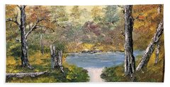 Pond In The Woods Bath Towel