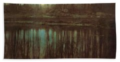 Pond Moonlight Hand Towel by Edward Steichen