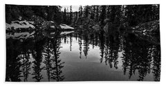 Pond On The Pacific Crest Trail Black And White Hand Towel
